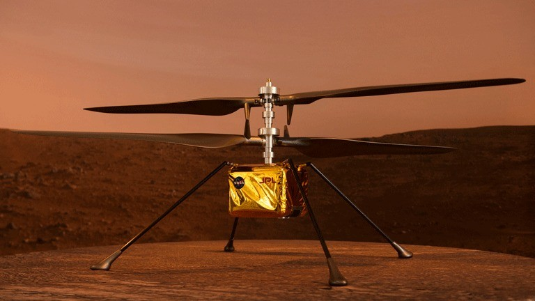 Der Mini-Hubschrauber Ingenuity der Nasa