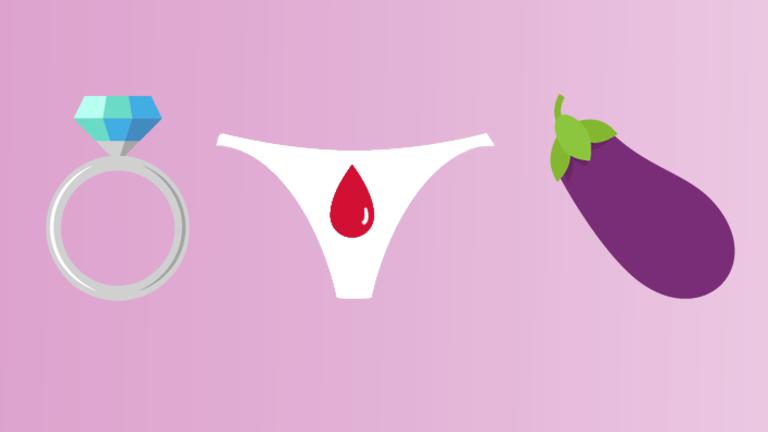 Emojis für Hochzeit, Periode und Penis