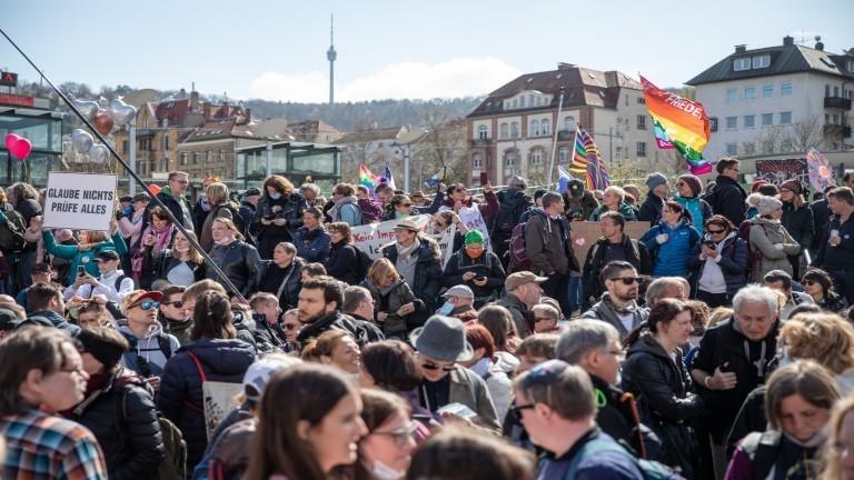 Demonstration der Querdenker Initiative