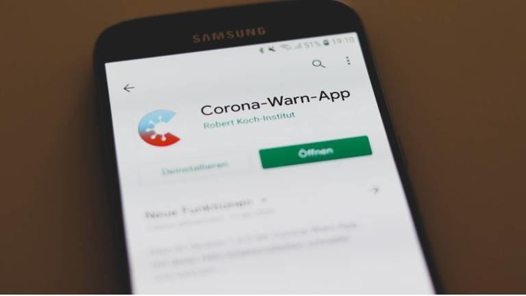 Nach der Installation: Android-Handy mit Corona-Warn-App