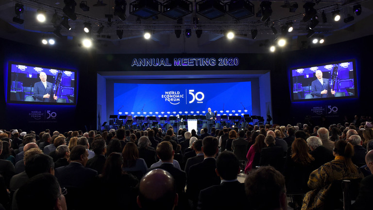 Eröffnungsfeier des Weltwirtschaftsforums in Davos 2020