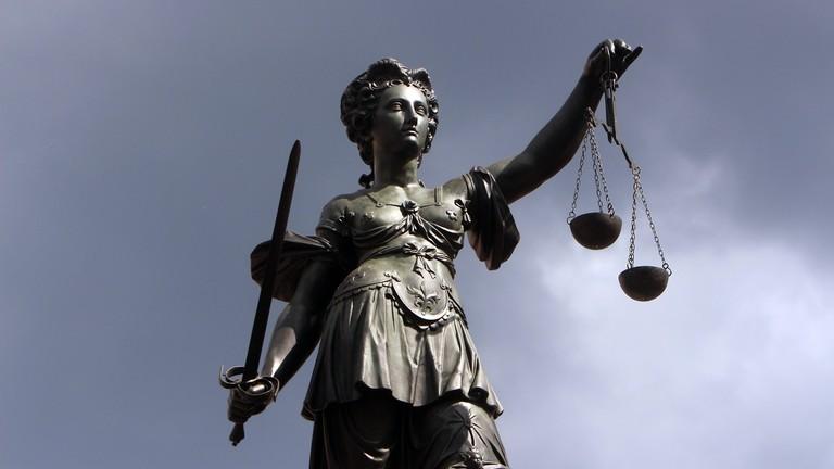 Justizia auf dem Römerberg i Frankfurt am Main