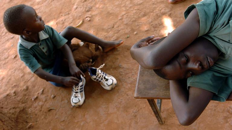 Ehemalige Kindersoldaten im ugandischen Gulu am 28. Oktober 2005