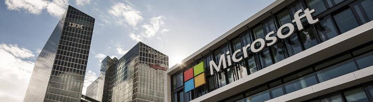 Das Gebäude von Microsoft in Köln.