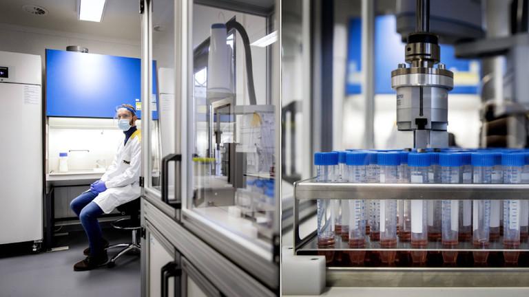 PCR-Tests in einem Labor in Amsterdam