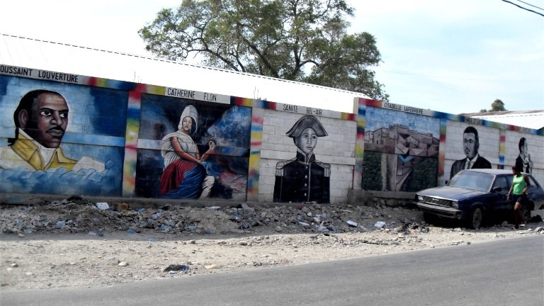 Mauer in Port au Prince