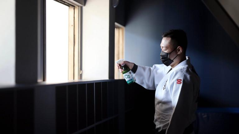 Desinfektionsmaßnahmen in einem Judo-Club in Seoul am 23.03.2020