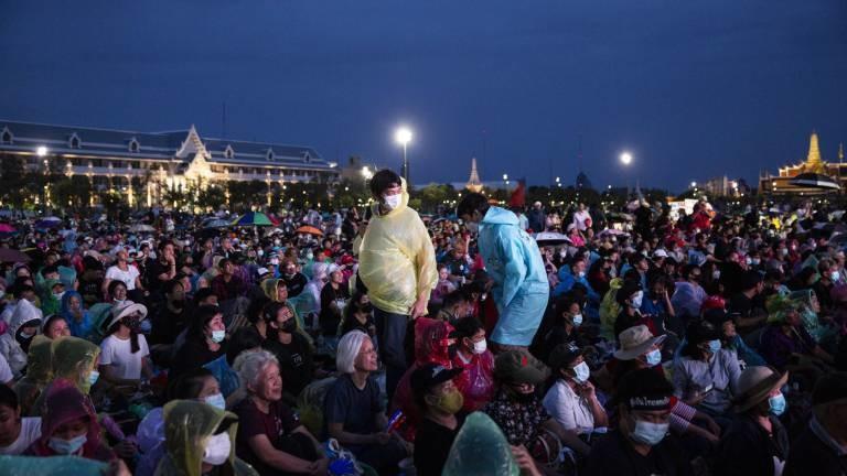 Protestierende in Bangkok am 19.09.2020