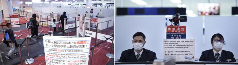 Temperaturscan: Kontrollen am Flughafen von Wuhan
