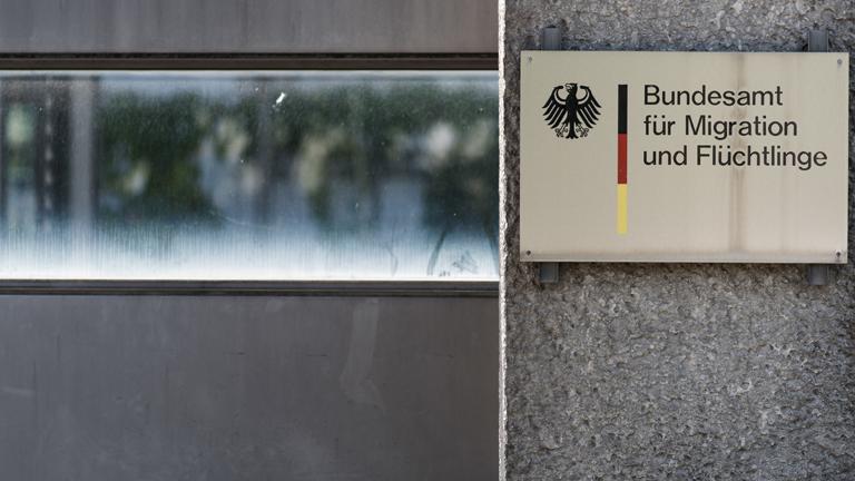 Schild Bundesamt für Migration und Flüchtlinge