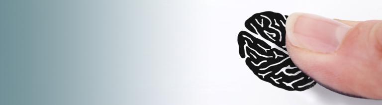 Symbolbild: Ein Fingerabdruck in Gehirnform