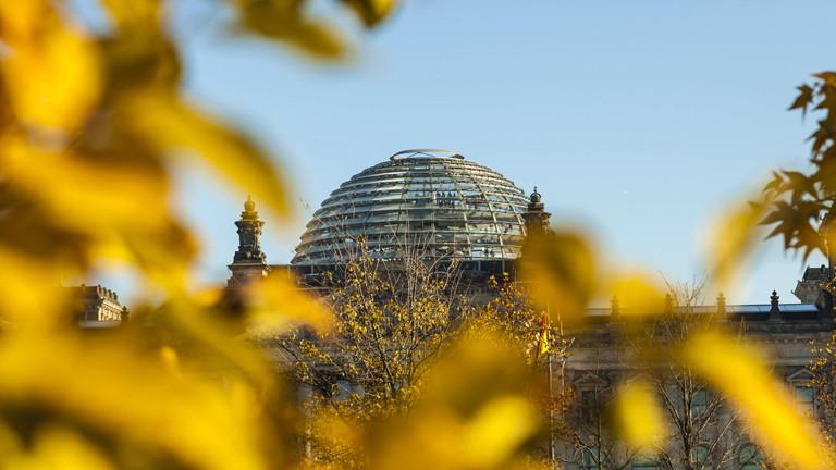 Das Gebäude des deutschen Bundestages