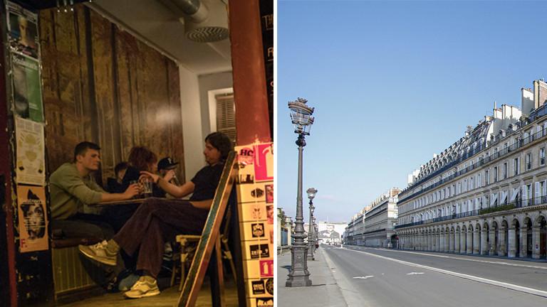 Nachtleben in Göteborg am 27.03.2020 - mitten in der Corona-Krise /Rue Rivoli in Paris am 31.03.2020 - mitten in der Corona-Krise
