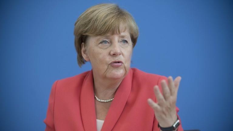 Merkel bei der Bundespressekonferenz im August 2015