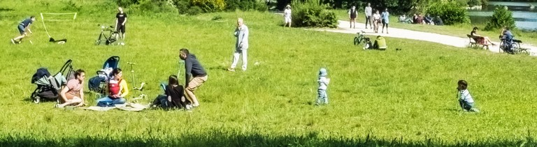 Menschen in einem Park