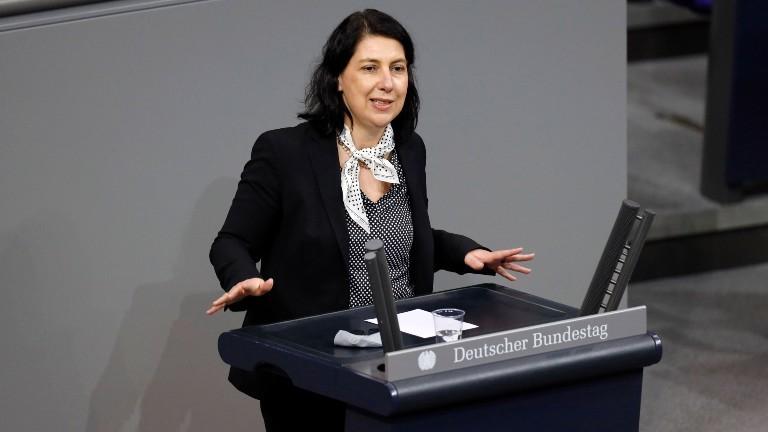 Die FDP-Politikerin Katja Hessel im Bundestag