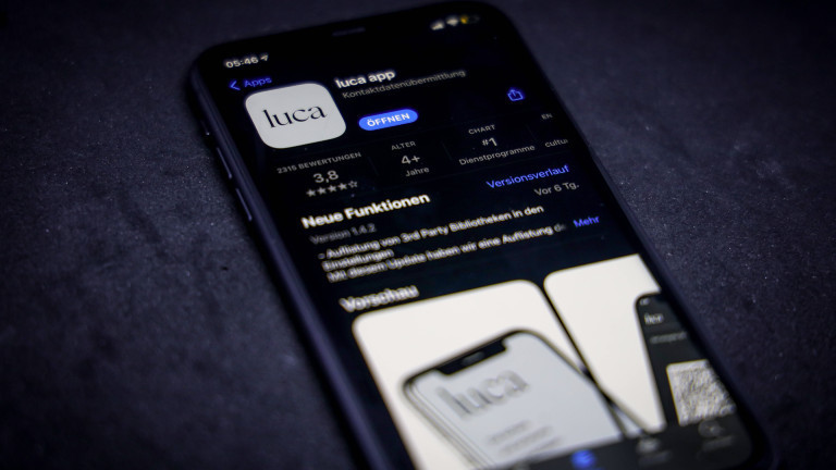 Luca App im Apple Store 07.04.2021
