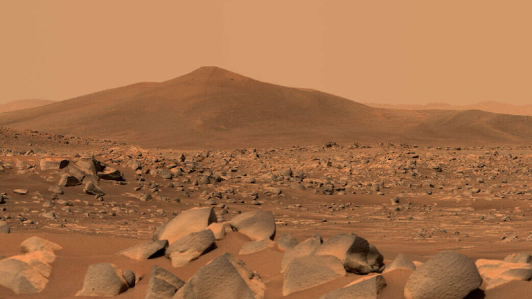 Aufnahme von der Marsoberfläche, veröffentlicht von der NASA 11.5.2021