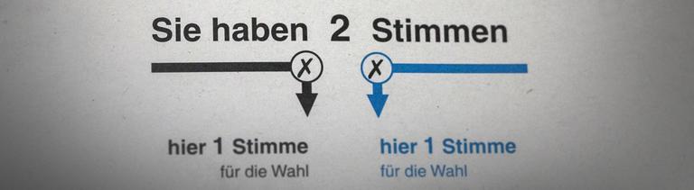 Wahlzettel Musteraushang im Wahllokale zur Bundestagswahl 2017 Wahlzettel Musteraushang im Wahllokale zur Bundestagswahl 2017
