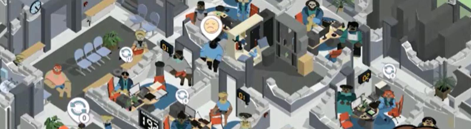 """Screenshot des Mobile Games """"Amtliche Helden"""" der Bundesagentur für Arbeit"""