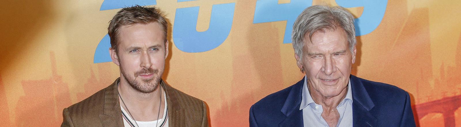 Blade Runner 2049-Darsteller Ryan Gosling und Harrison Ford