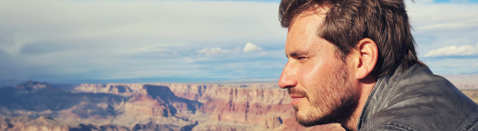 Der Filmemacher Clemens Bittner am Grand Canyon