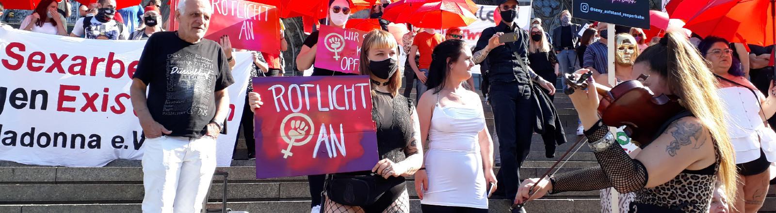 Demo Sexarbeiterinnen Köln 30.07.2020