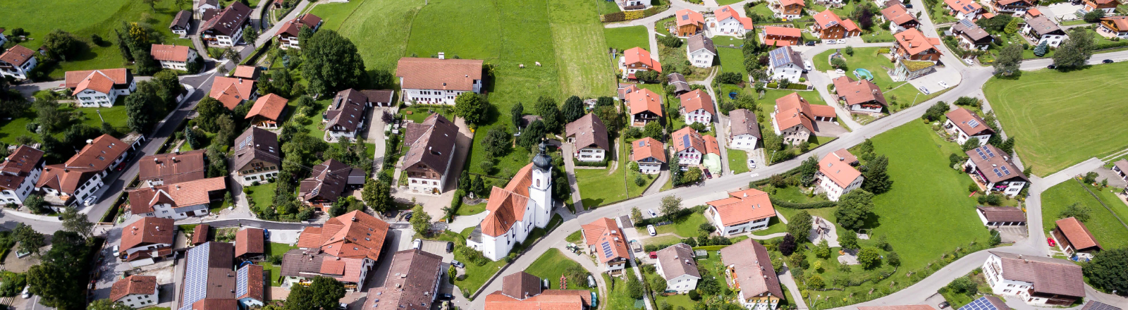 Dorf von oben