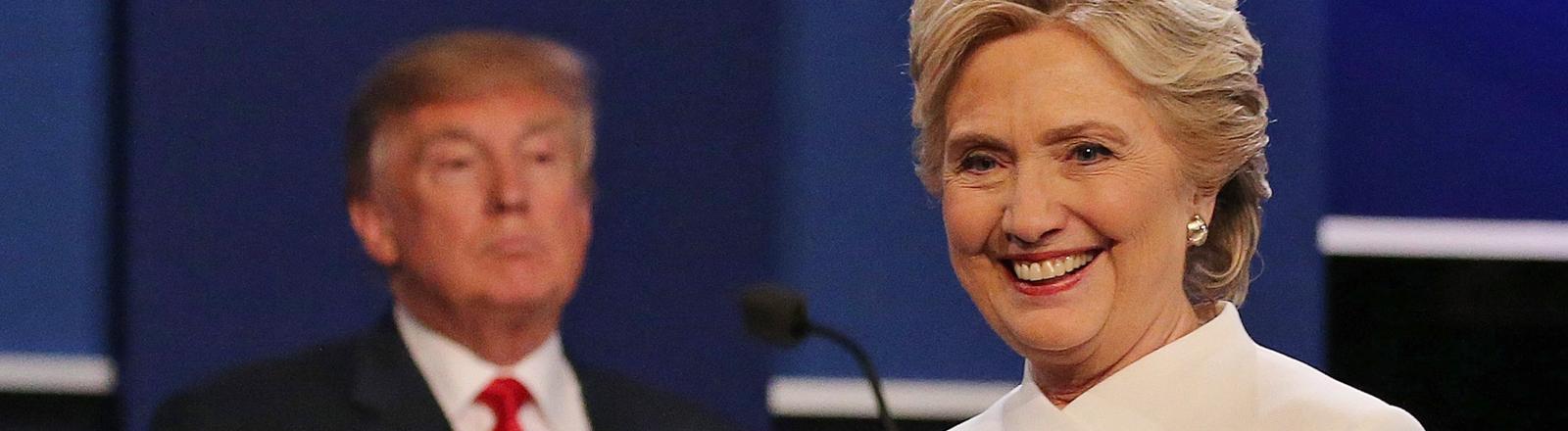 Clinton und Trump beim dritten TV-Duell
