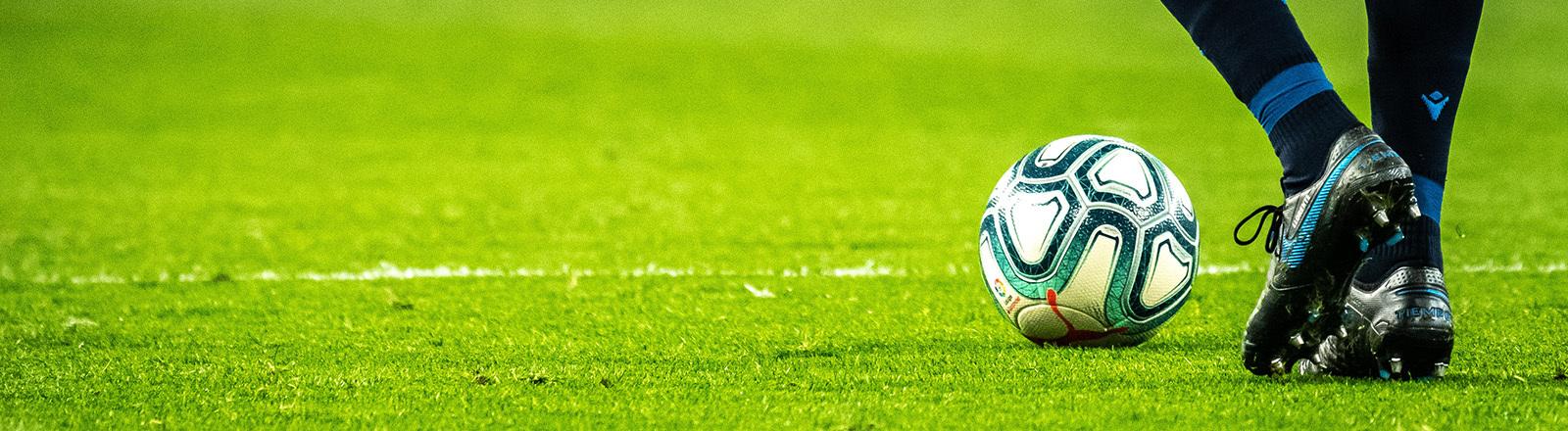 Fußball Spieler Rasen