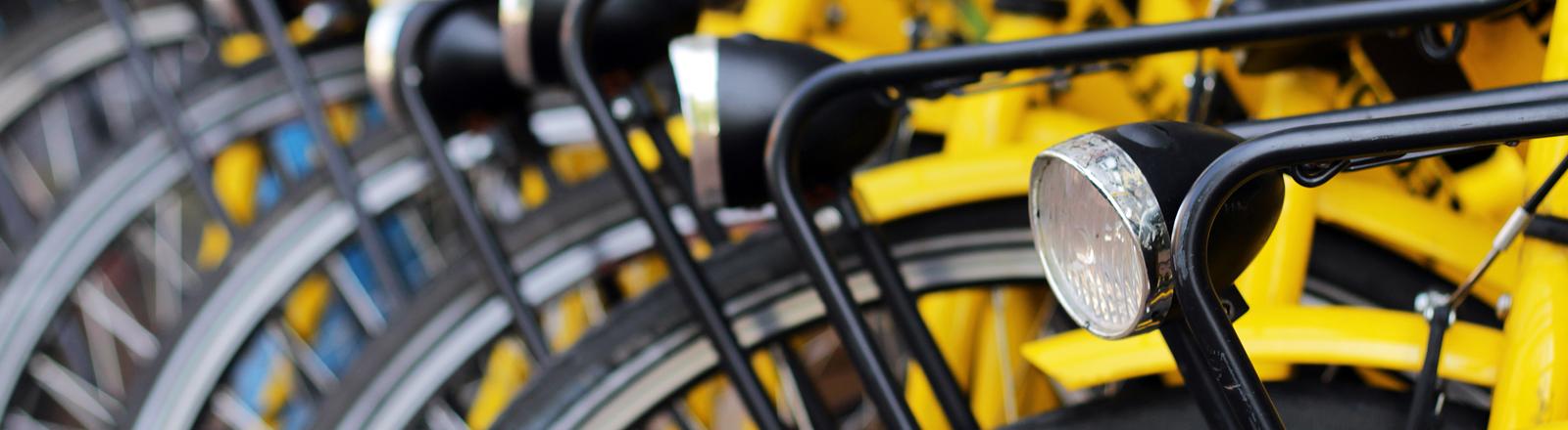 Fahrräder an einem Stand