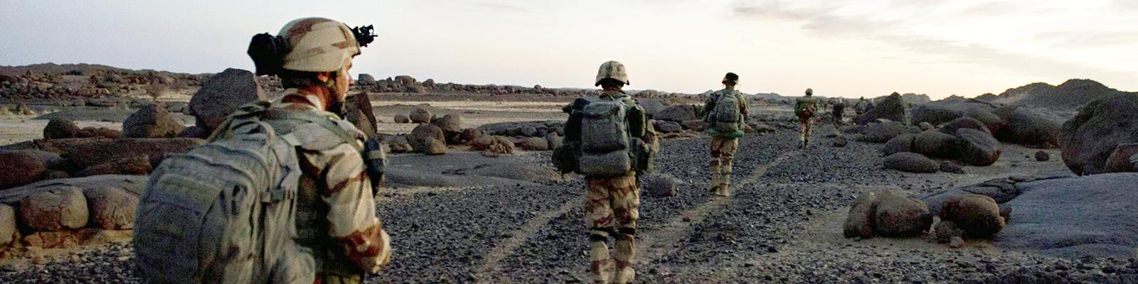 Soldaten der französischen Fremdenlegion beim Militäreinsatz in Mali (2013)