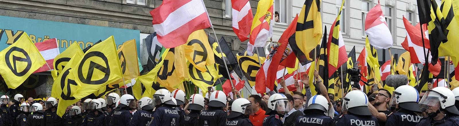 Demonstration der Identitären in Wien 2016