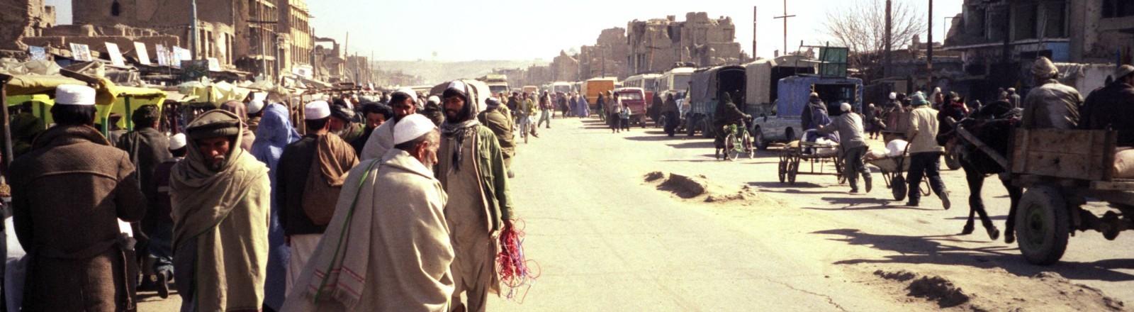 Ein Stadtteil von Kabul in 2001 - kontrolliert von Taliban