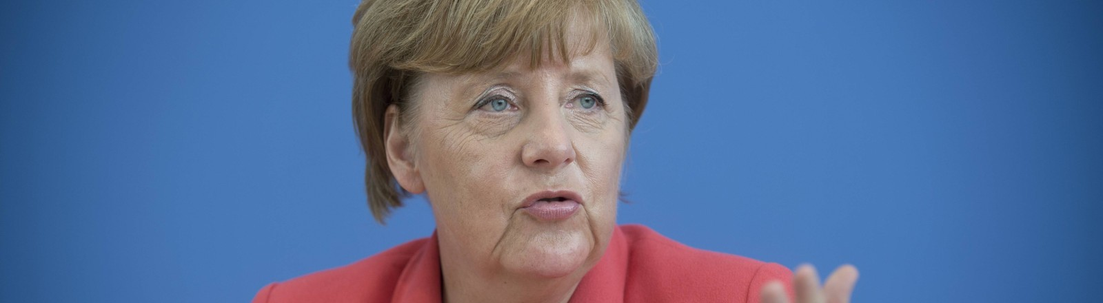 Angela Merkel bei der Bundespressekonferenz im August 2015