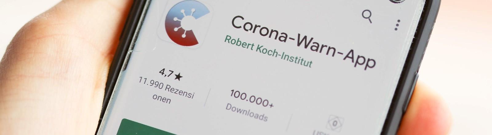 Die neue Corona-Warn-App auf dem Smartphone