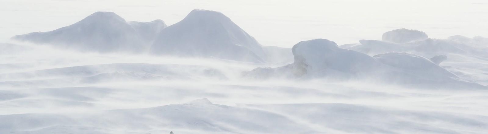 Eislandschaft in Sibirien