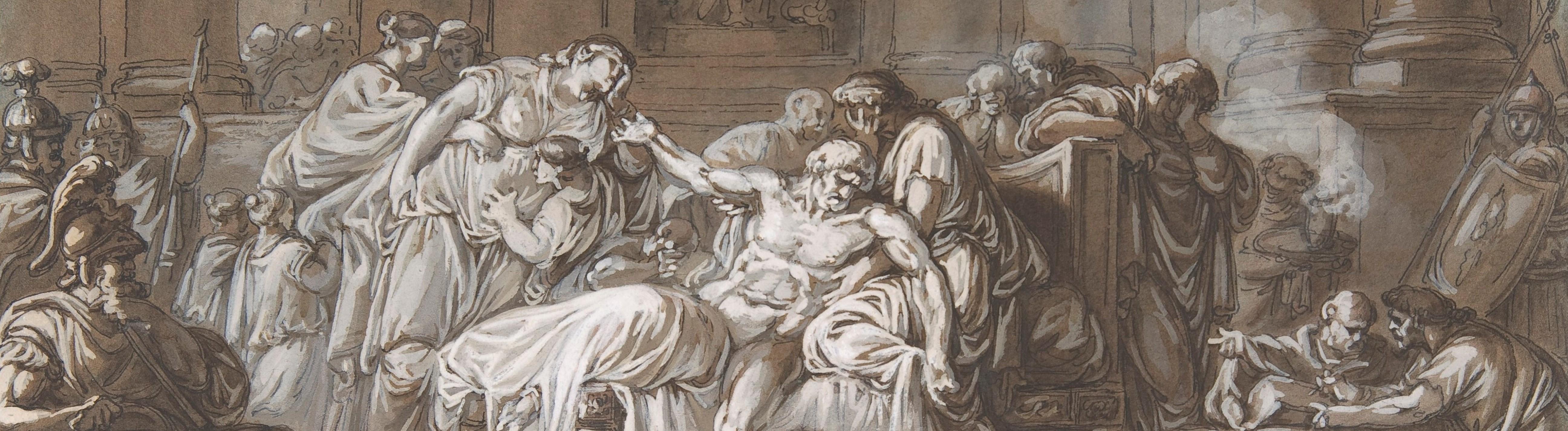 Bild: Der Tod von Seneca, von Jean Guillaume Moitte (1746-1810 Paris)