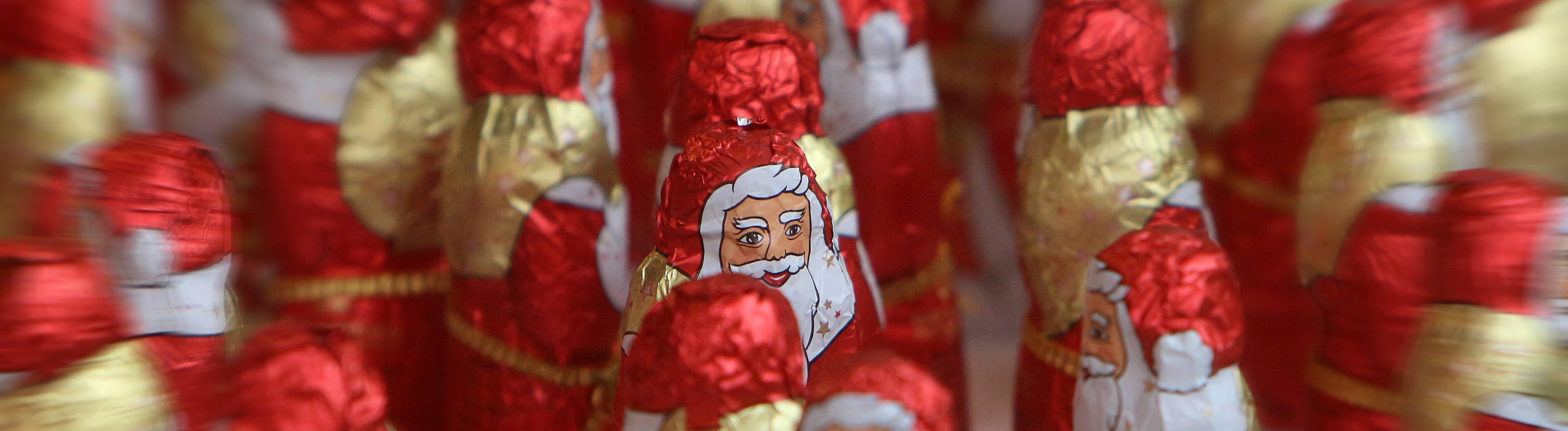 Schokoladen-Nikoläuse