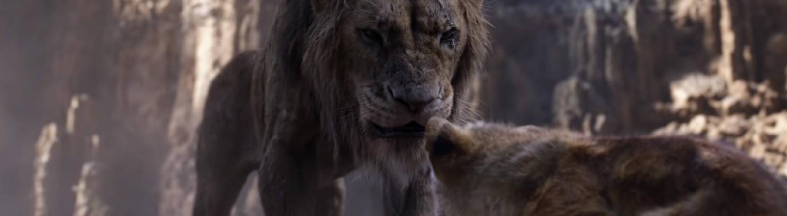 """Der Bösewicht Scar im Disney-Film """"Der König der Löwen"""""""
