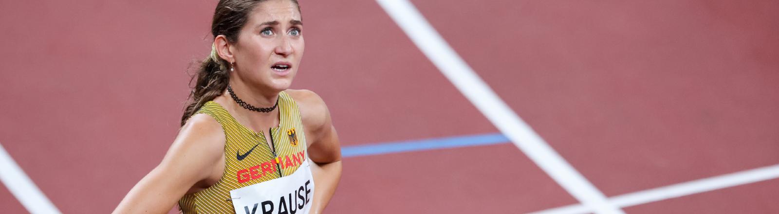 Hindernisläuferin Gesa Felicitas Krause bei den Olympischen Spielen in Tokyo