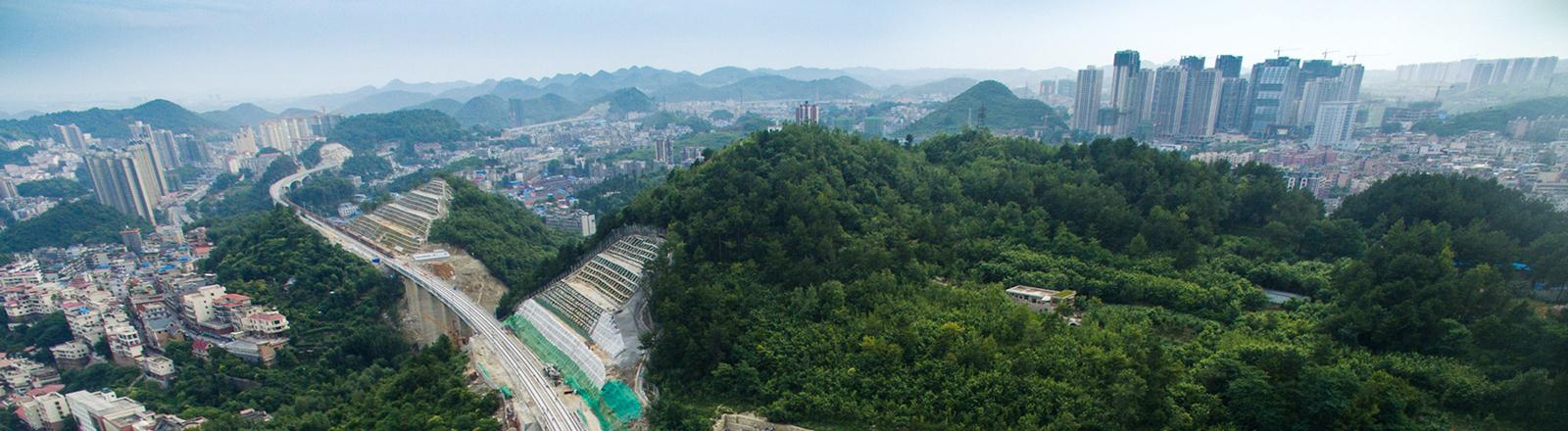 Guiyang City, 4,6 Millionen Stadt im Südwesten Chinas