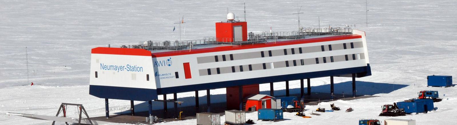 Die Neumeyer Station in der Antarktis