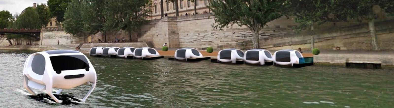 Seabubbles-Wassertaxis auf der Seine