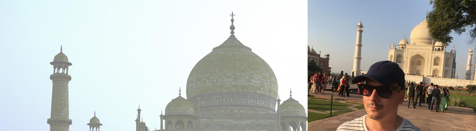 Marcel Franke am Taj Mahal