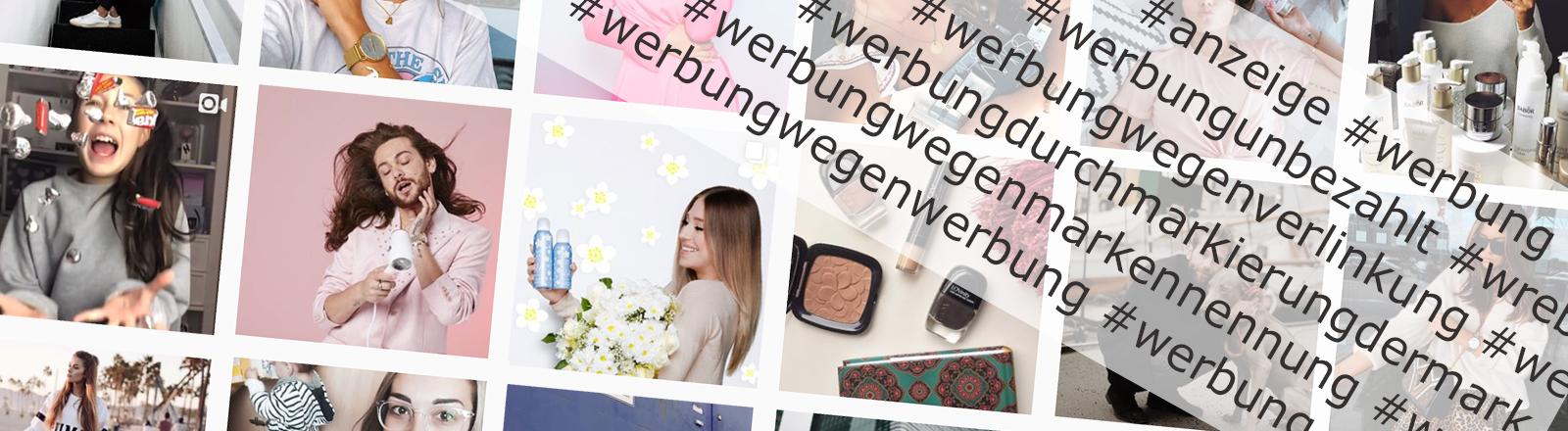Bilder auf Instagram mit Tags wegen Werbung